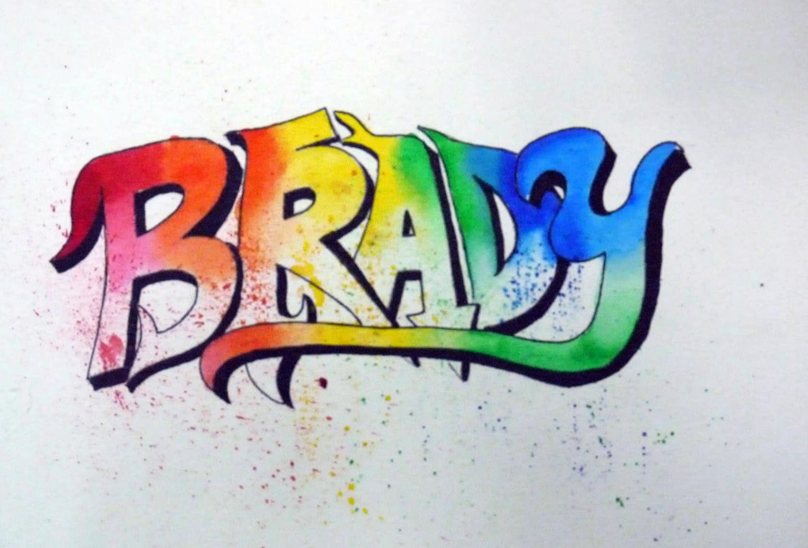 They Had To Design Their Own Graffiti Lettering And Write Their First And Last Name In This Unique Style Students Then Used Watercolor To Finish Their Tag