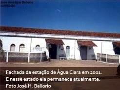 Fachada da Estação de Água Clara em 2001.
