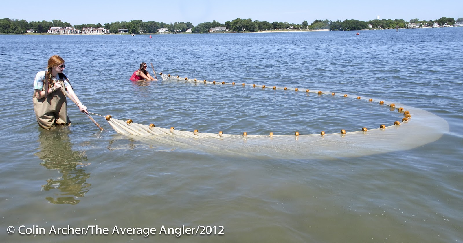 The average angler july 2012 for Seine net fishing