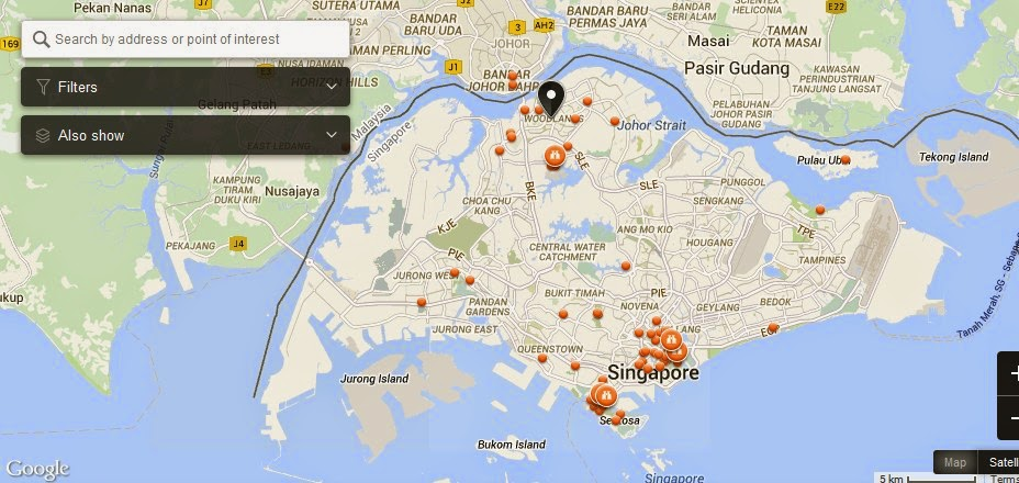 Woodlands Singapore Map   Tourist Attractions in Singapore
