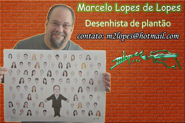 Caricaturas criadas por Marcelo Lopes de Lopes