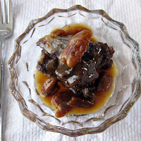 Chocolate Bread Pudding with Bourbon Pecan Caramel Sauce