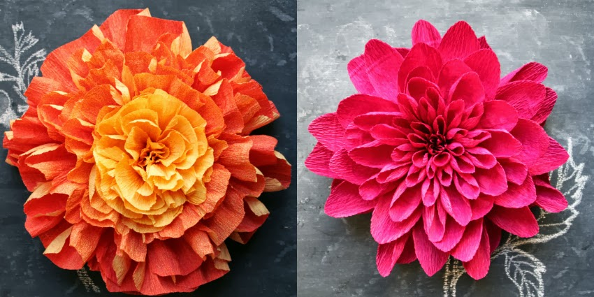 Crepe paper flower headpieces by featured artist tiffanie turner im mightylinksfo