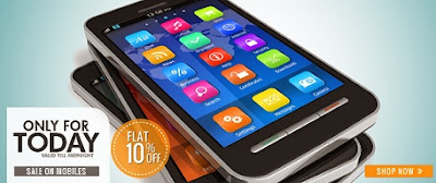 Flat 10% additional off on Mobile Phones at HomeShop18