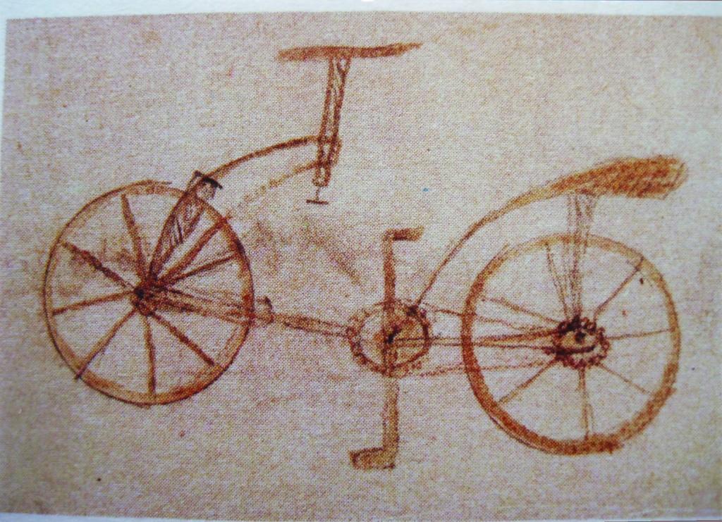 Invenzioni la bicicletta di leonardo da vinci for Invenzioni di leonardo da vinci