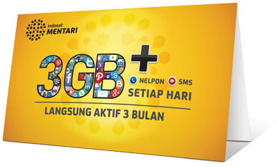 Paket Internet Data Indosat Mentari 3GB