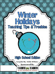 TpT 2012 Winter Holidays Tips and Freebies: Grades 7-12 Edition