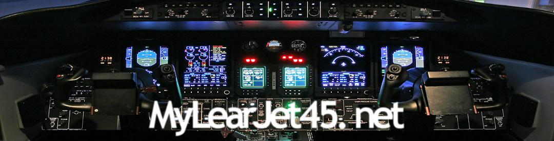My Learjet 45 Home Cockpit