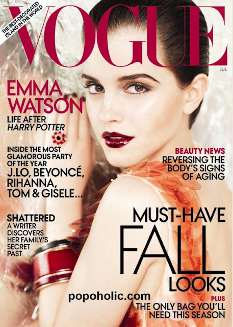 emma watson vogue 2011 july. watson vogue cover july