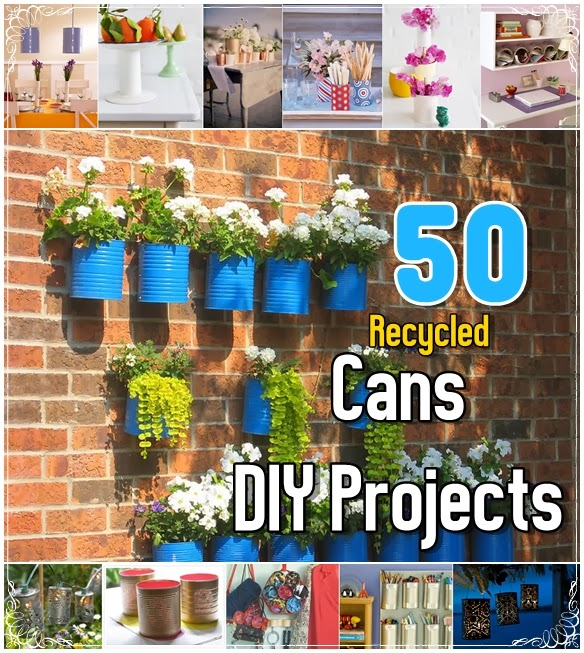 50 Brilliant Recycled Cans Diy Projects Diy Craft Projects