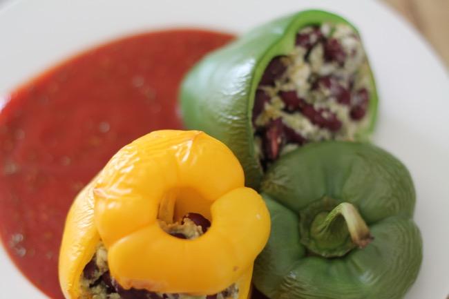 gefuellte Paprika - #svetlanakocht - vegane Rezepte - vegetarische Rezepte mit viel Protein - Gesunde Kueche - #fitdurch2015