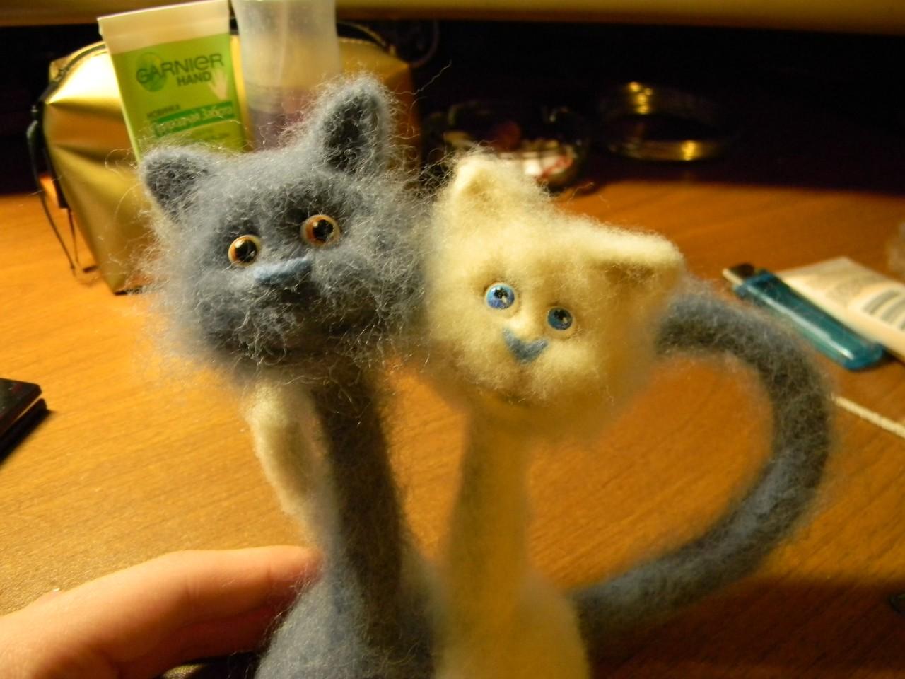 Мастер -класс : валяем очаровательного котенка Ярмарка Мастеров
