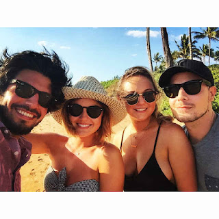 Lucy Hale, Annie Breiter and Anthony Kalabretta in Maui, Hawaii