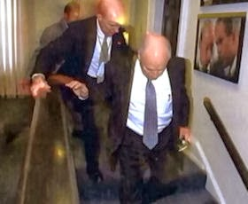 Dick Cheney being evacuated to the PEOC on 9/11