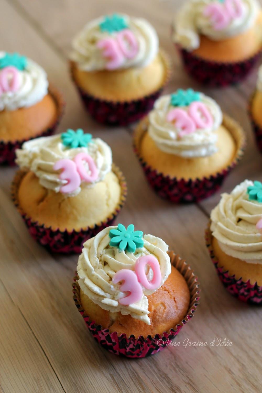 Cupcake façon Madeleine au coeur de Nutella - Une Graine d'Idée