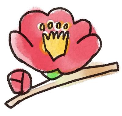 椿のイラスト(花)