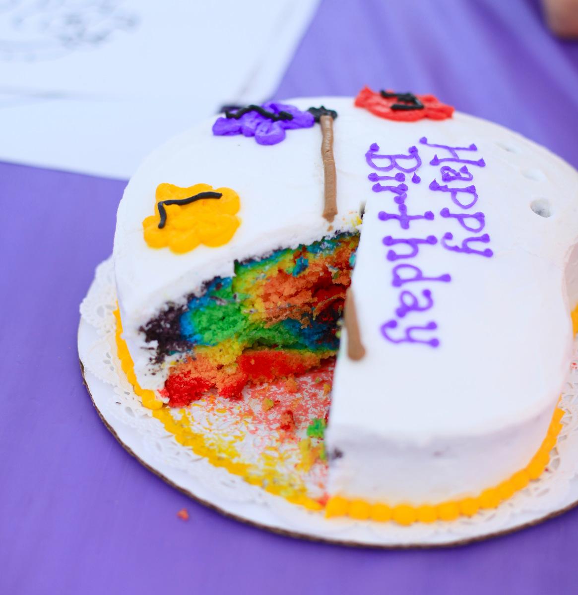 Invite and Delight: Amazing Rainbow Cake - photo#15