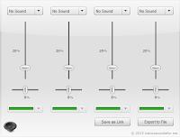 Nature sounds for me - misturador interface