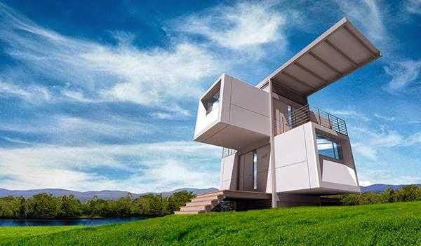Contoh rumah futuristik