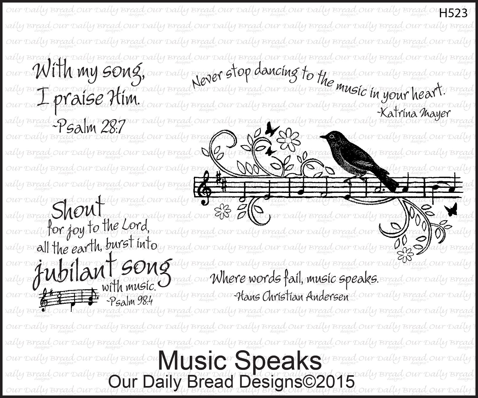 Stamps - Our Daily Bread Designs Music Speaks