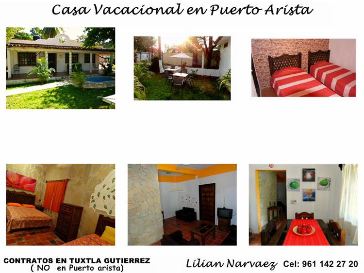 CASA VACACIONAL EN PUERTO ARISTA,CHIAPAS