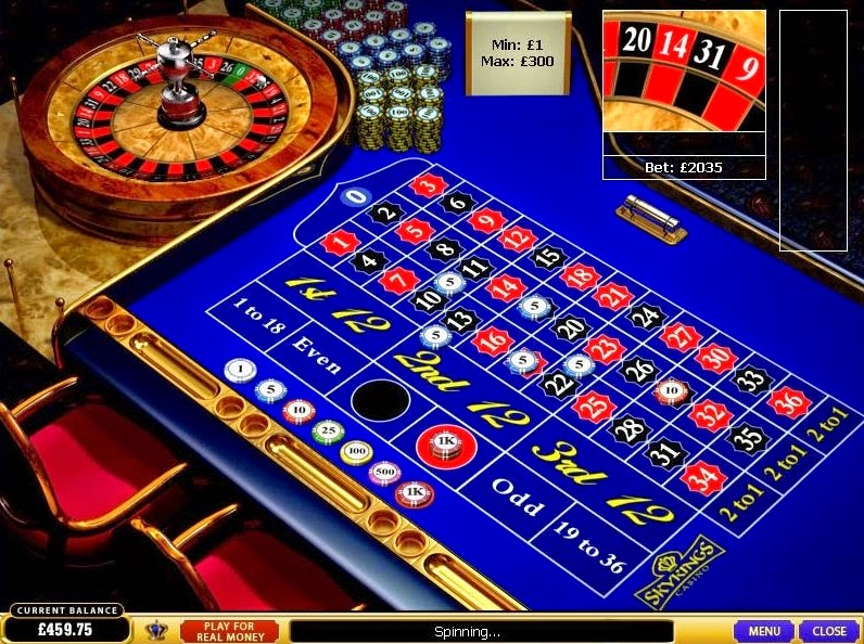 Skyking Casino Roulette Screen