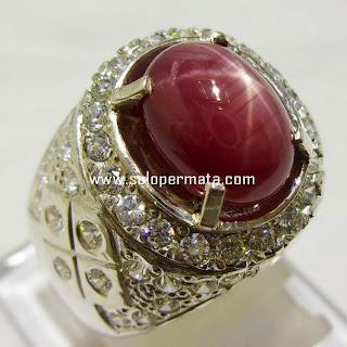 Batu Permata Ruby Star | Merah Delima