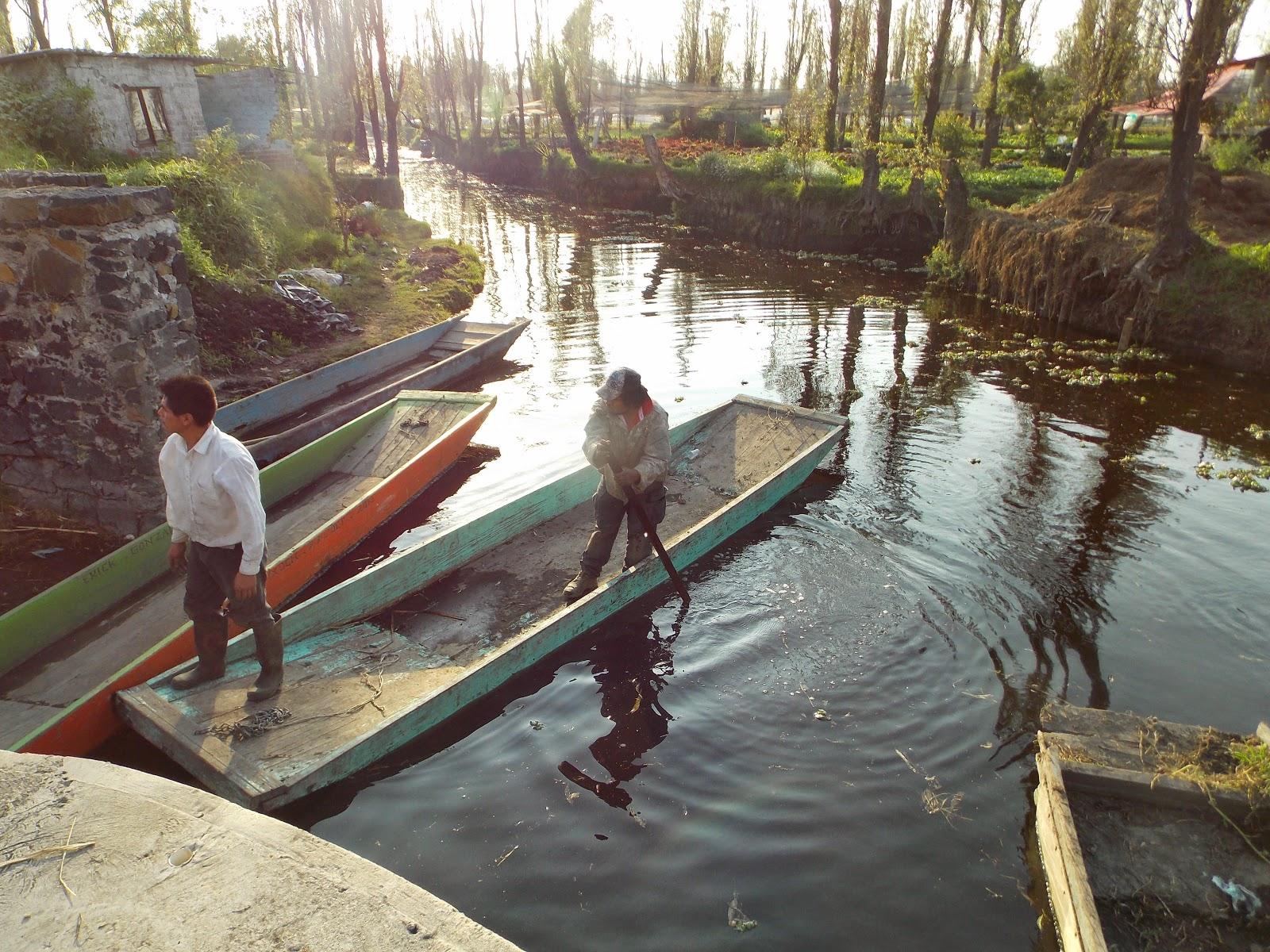 Canales de Xochimilco al atardecer