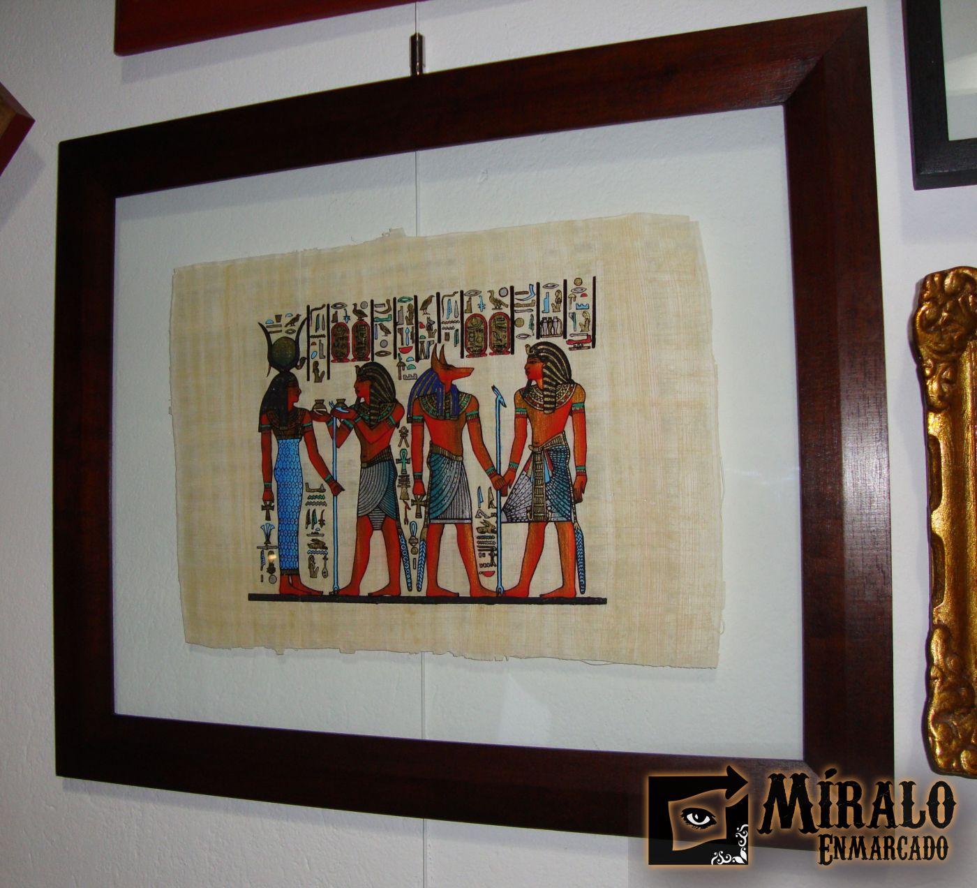Enmarcado de papiro egipcio doble vidrio - Ver cuadros modernos ...
