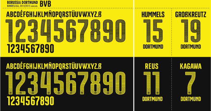 football teams shirt and kits fan font borussia dortmund