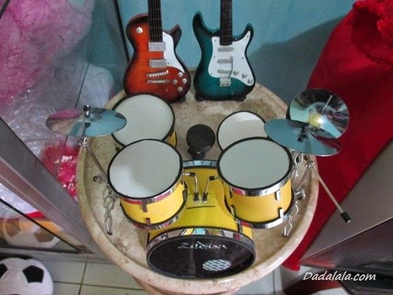 Jual Miniatur Drum Zildjian Warna Kuning Polos