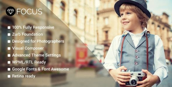 Premium Photography WordPress Template 2015