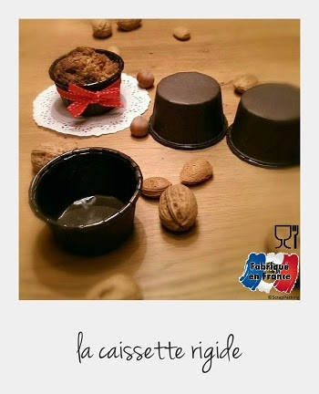 Caissette alimentaire muffin marron rigide