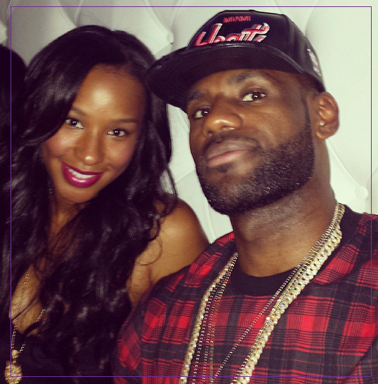 d9c7203087ae LeBron James has been confessing his love for his girlfriend of forever