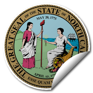 Sticker of North Carolina Seal
