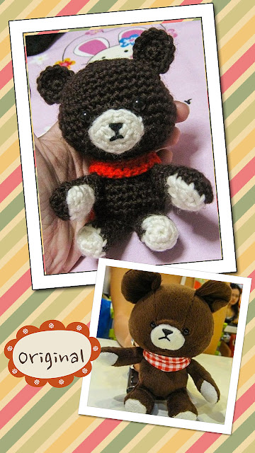 crocheted bear soft toy replica amigurumi