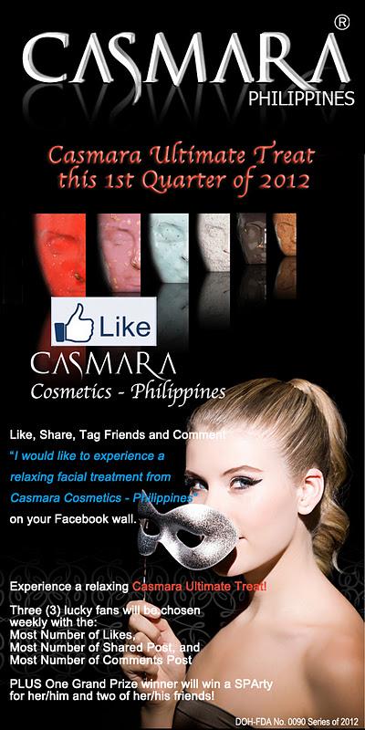 Casmara Ultimate Treat this 1st Quarter of 2012 1