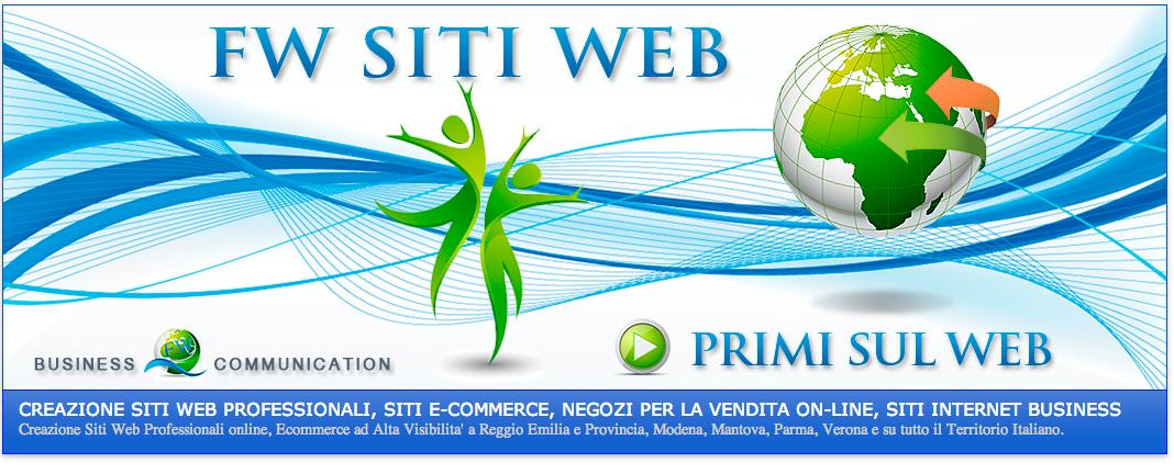 CREAZIONE SITI WEB  REGGIO EMILIA, MODENA, PARMA, MANTOVA, VERONA, LUCCA