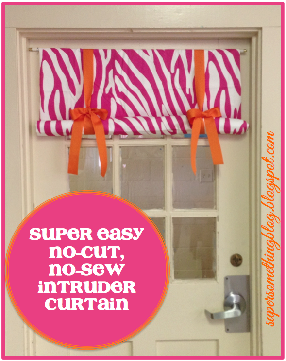 Super Easy No-Cut, No-Sew Intruder Curtain | SuperSomethingBlog.blogspot.com