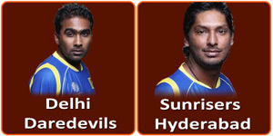 DD Vs SRH IPL match is on 12 April 2013.