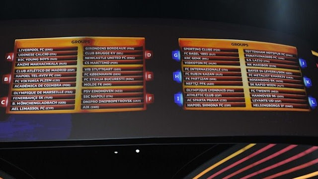 UEFA Europa League 2012 / 2013 Draw Table