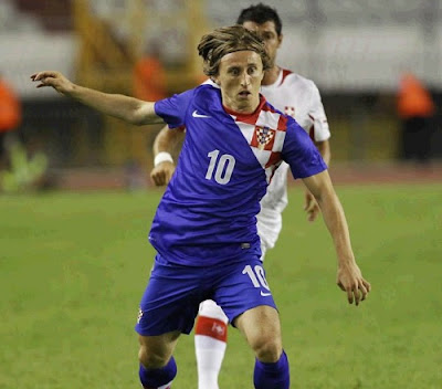 Modric with Croatia jersey