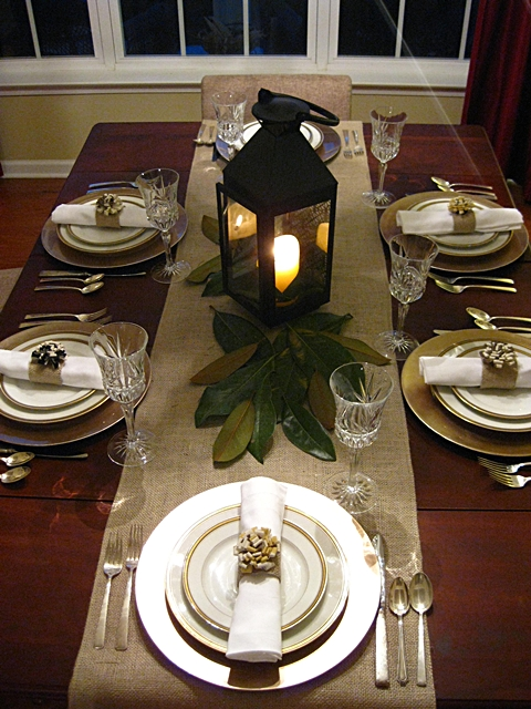 Eat sleep decorate easy elegant thanksgiving table for Elegant table setting for thanksgiving