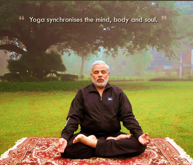 Modi, Narendra Modi, Modi Yoga, Modi in Padmasana, Modi performing Yoga, Modi on Yoga