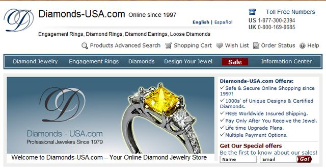 Certified Loose Diamonds by Diamonds-USA.com