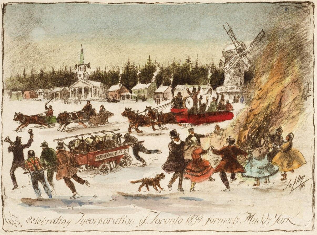 Celebrating Incorporation of Toronto 1834 formerly Muddy York ca. 1909 by  Frederic Waistell Jopling