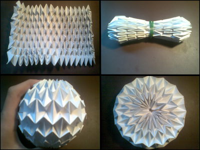 Creating my own lampshades based on the origami magic ball for How to make paper lamp step by step