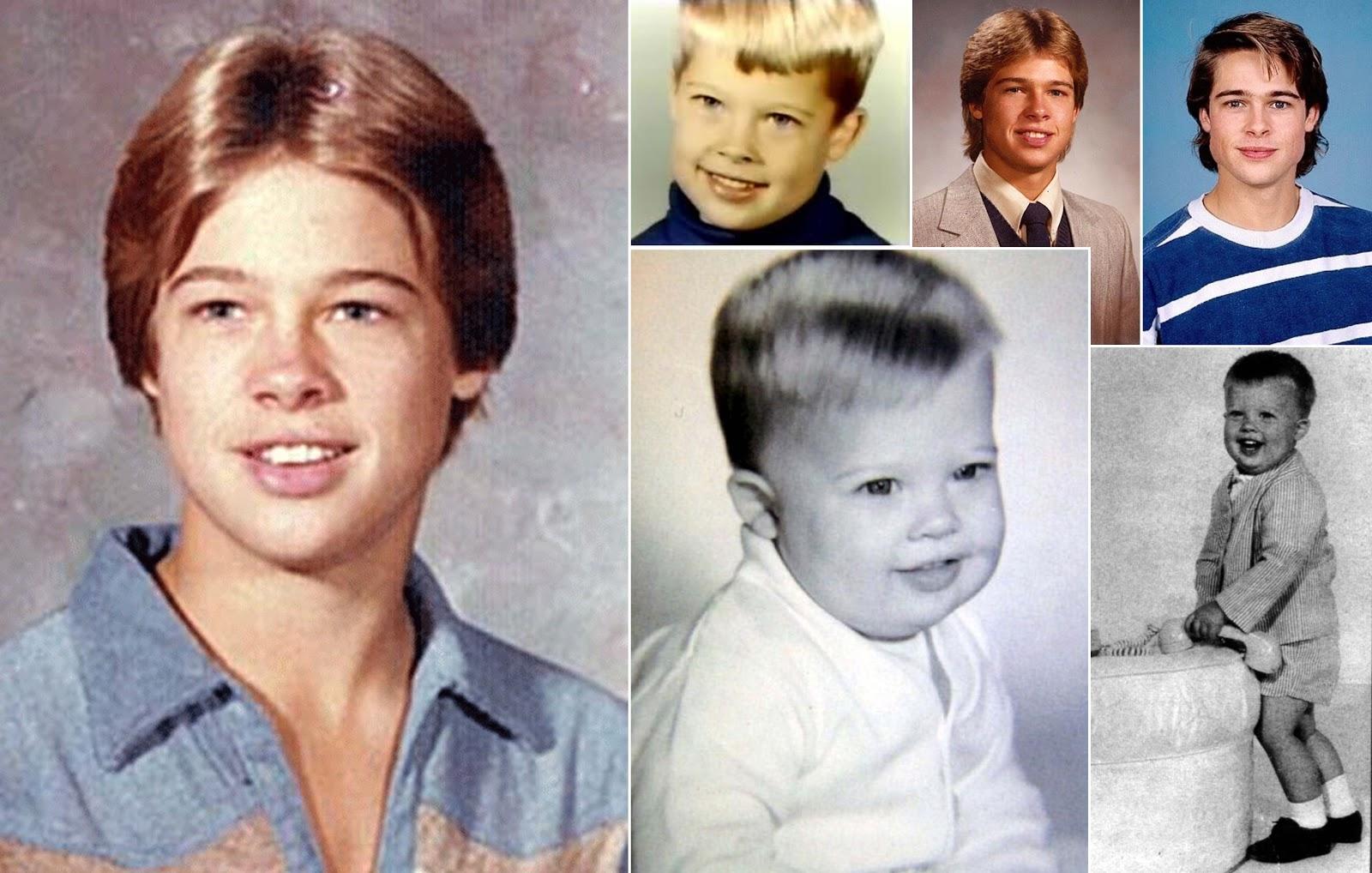 Брэд Питт в детстве. Фото