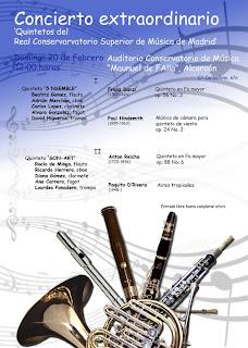 Concierto extraordinario. Quintetos del Real Conservatorio Superior de Música de Madrid