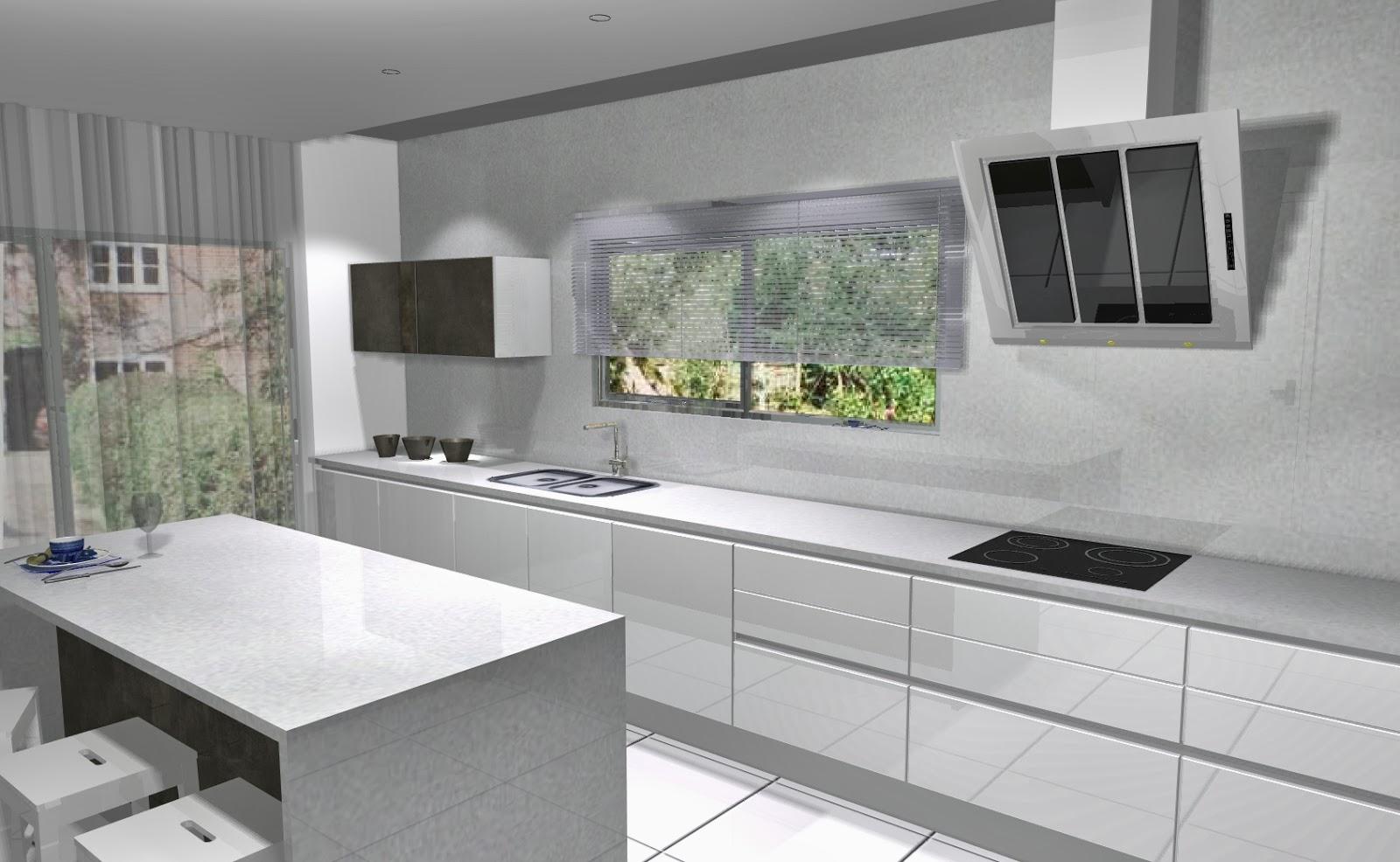 Celeiro do Móvel: Cozinha moderna 3D o branco! #69714A 1600 986
